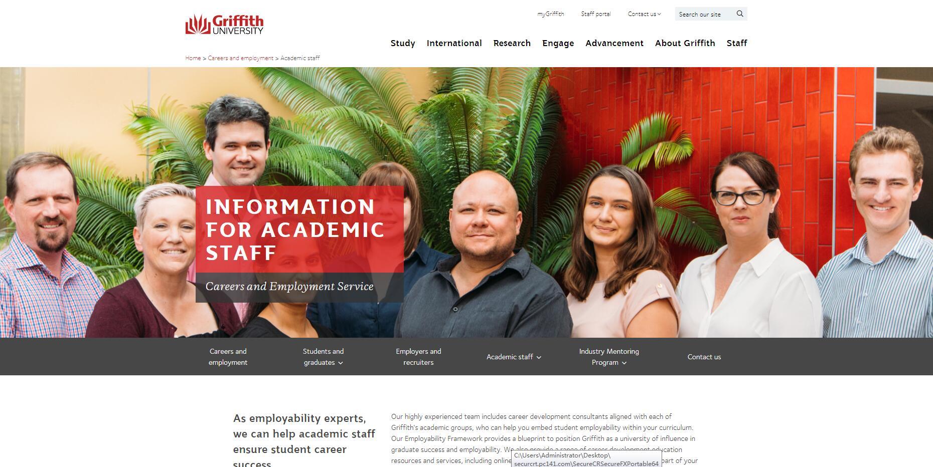 Academic staff - Griffith University