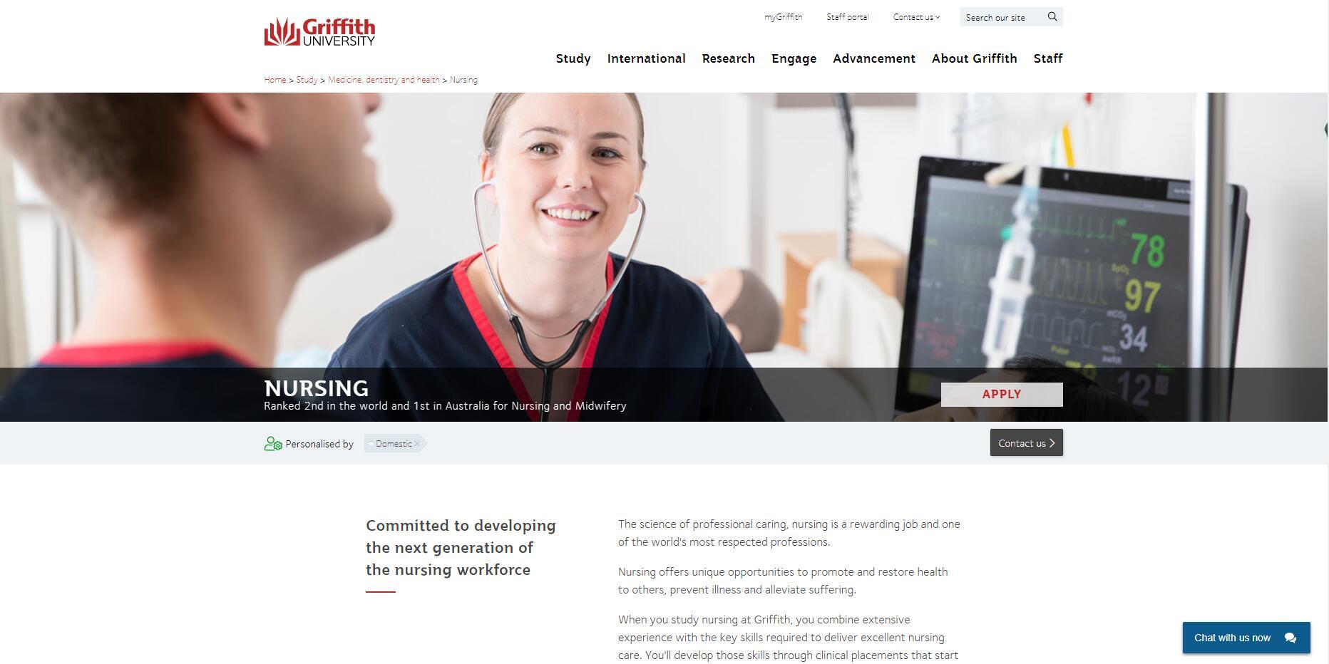 Griffith University Nursing