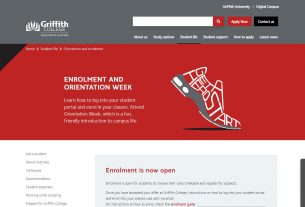 Orientation and enrolment - Griffith College