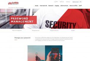 Password management - Griffith University