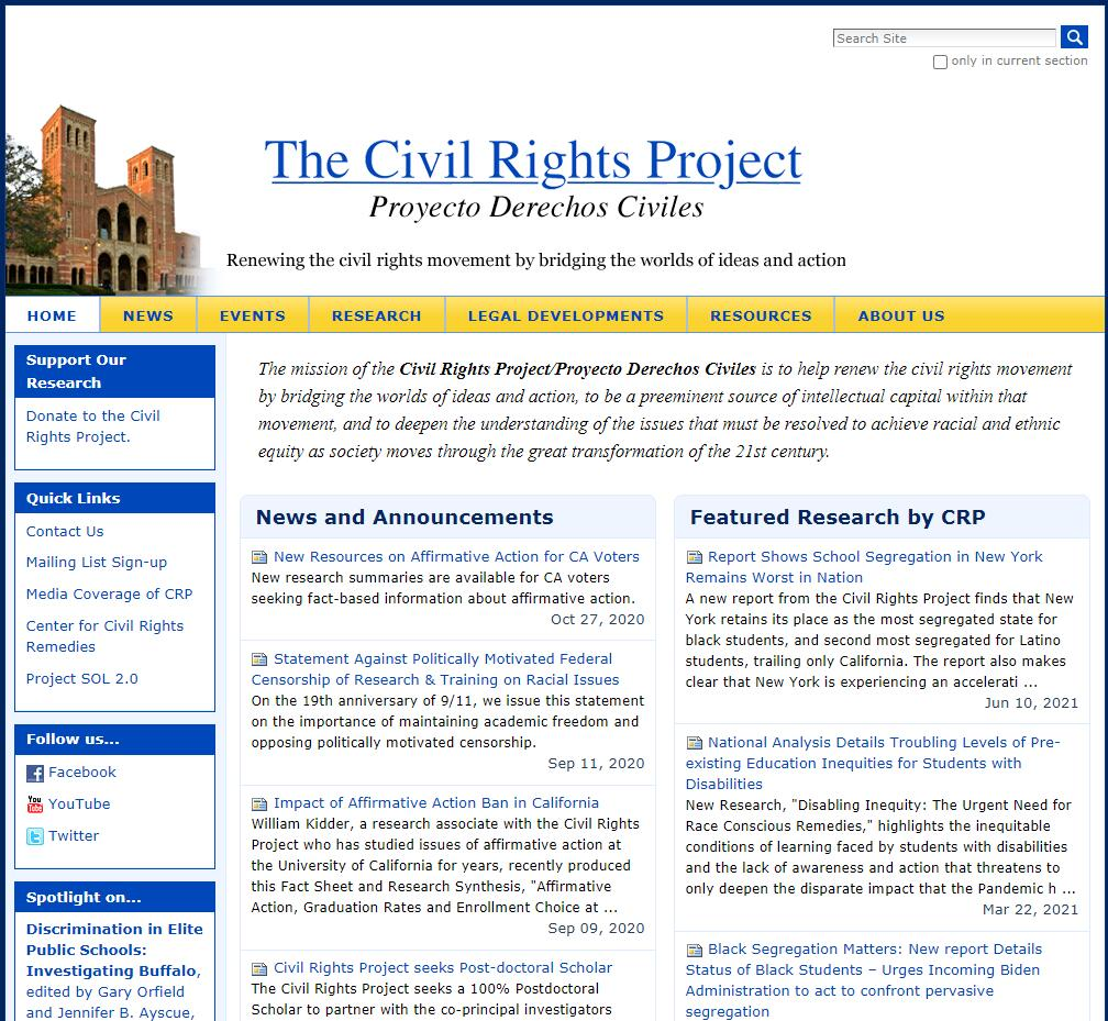 The Civil Rights Project at UCLA
