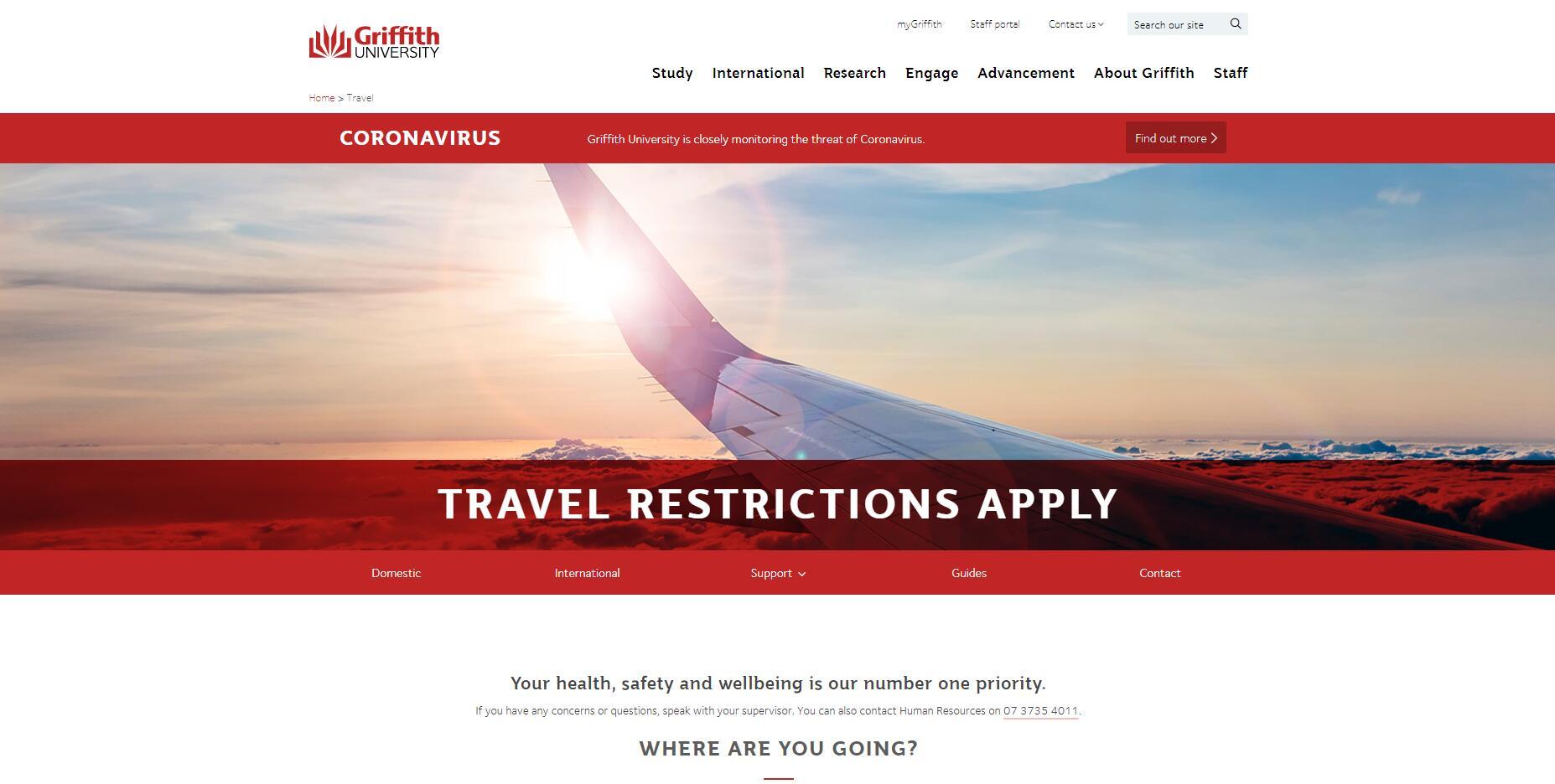 Travel - Griffith University - Staff portal