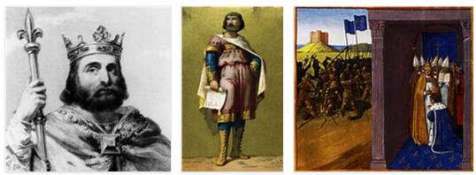 France History - from its Origins to Pippin the Short